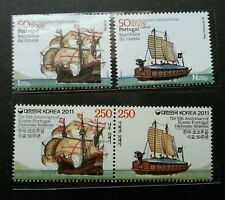Portugal Korea Joint Issue 50th Diplomatic Relations 2011 Ship (stamp pair) MNH
