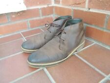 BARBOUR Brown Leather Chukka Boots * 9 uk * LEATHER LINED