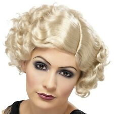 20s Ladies Flirty Flapper Fancy Dress Wig Charleston Wig Blonde New by Smiffys