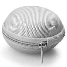 Mini Plain Zipper Earphone Case Headphone SD Card Storage Bag Box Carrying Pouch