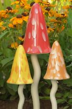Ceramic Toadstools Garden Tinkling  Mushrooms Ornaments PS1092 Gift