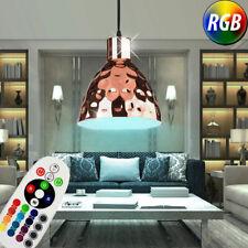 RGB LED Lámpara de Techo Oro Dorado Control Remoto Martillazo Colgante Regulable