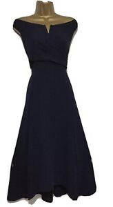 BNWT Beautiful Coast Navy Bardot Occasion Dress Size 18/20