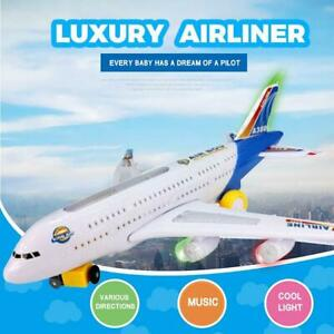 Electric Toy With Light & Music Kids Airplane Airbus Toys Musical Glowing
