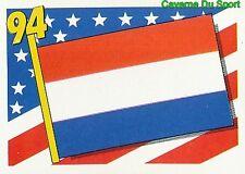 356 FLAG DRAPEAU NETHERLANDS HOLLAND RED BACK VIGNETTE STICKER USA 94 BROCA