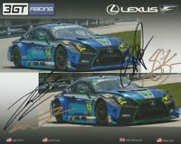 2018 3GT Racing Lexus RCF GT3 GTD signed IMSA WTSC postcard 4 Drivers