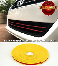 Yellow TPE Rubber Overlay Trim Cover For Honda Acura Upper Lower Grille Air Dam