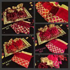 Un à Cordon en Velours Bijoux pochette sacs cadeau-Indien Mariage Accessoire