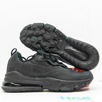 Nike Air Max 270 React (GS) Boy's Running Training Triple Black BQ0103-004 NIB
