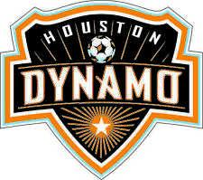 "Houston Dynamo MLS Soccer bumper sticker wall deco vinyl decal, 5""x 4.5"""