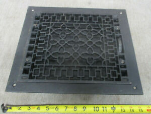 """NEW Cast Iron Ornate Floor Grate Heat Vent Cover W/Louvers 14"""" x 12"""""""