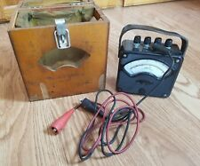 WESTINGHOUSE AC AMMETER 0-150 VOLTS METER TYPE PY4 w/ WOOD CASE