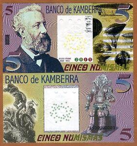 Kamberra, Kingdom, 5 Numismas, 2015, UNC > Jules Verne