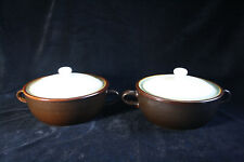 Vintage set of 2 tureens/ handled dishes with cover Franciscan Chestnut
