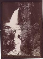 Tivoli Cascade Italia Photo amateur Voyage en Italie 1898 Vintage citrate