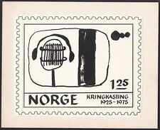 Norway Sc663 50 Years of Broadcasting, Microphone, Ear Phones, Proof, Essay