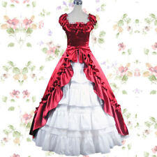 Lolita Victorian Gothic Southern Belle Red Party Dress Halloween Custom Made