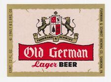Old German Lager Beer Label
