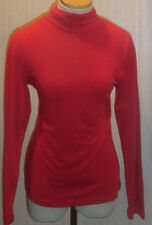 Ladies Sonoma Lacquer Red Long Sleeve Mock Neck Sizes Small, Medium