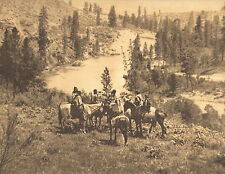 "EDWARD CURTIS Indian Tribe ""ON SPOKANE RIVER"" Vintage Native American Book Print"