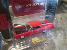 1968 plymouth RED IRacing Champions mint issue 94 w/stand 1:62 Scale