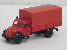 Magirus-Deutz rund Pritschenlastwagen, o.OVP, Brekina, 1:87, Feuerwehr