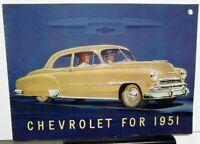 1951 Chevrolet Belair Fleetline Styleline Special Deluxe Sales Brochure Original