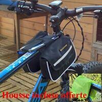 Sacoche sac de cadre + housse étanches vélo VTT outils smartphone téléphone
