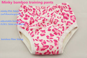 3pc/lot bamboo minky Baby Training Pants changing underwear, PUL prevent leakage