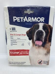 Pet Armor Flea & Tick Treatment for Dogs 89-132lbs 3 Doses ~ Read!
