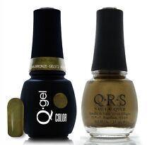 Gel & Polish QRS Beauty Combo MAT512 Autumn Bronze Green Pearl Color
