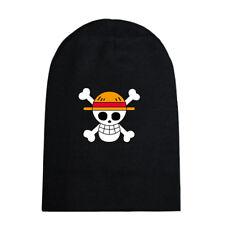 One Piece Strawhat Pirates Luffy Skull Beanie Knitted Ski Skull Cap Winter Hat