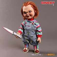 "Child's Play - Chucky 15"" Good Guy Action Figure With Sound Sneering Doll Mezco"