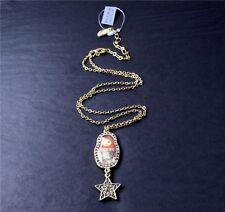 Vintage PILGRIM Necklace RUSSIAN DOLL Dark Gold Caramel Swarovski Enamel BNWT