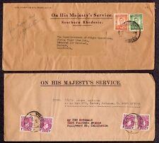 Rhodesia Nigeria MAJESTY'S SERVICE Brit Colonies 1945 1953 Flying Tiger LOCKHEED