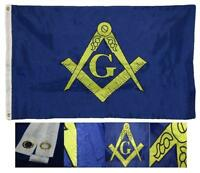 3x5 Mason Masonic Freemason Blue  2ply Flag Galvanized Pole Kit Eagle Top 3/'x5/'