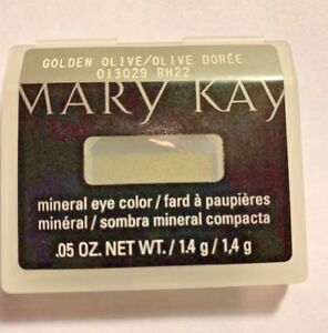 Mary Kay MINERAL Eye Color Shadow - Golden Olive  DISCONTINUED RARE