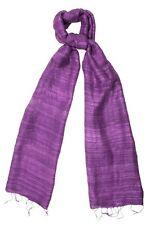 Amethyst Purple Raw Silk Scarf - Fair Trade BNWT 180cm x 40cm