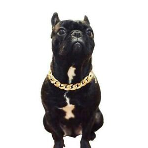 Pet Choke Chain Gold Silver Collar Necklace Small Cat French Bulldog Dog I Fast