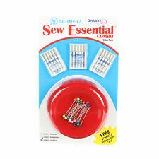 Sew Essential Combo,GRABBIT Pincushion & Schmetz Needles, #3003 for Quilting