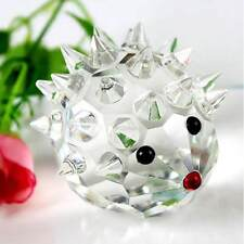 Artificial Glass Crystal Hedgehogs Paperweight Table Decor Crafts Art&Collection