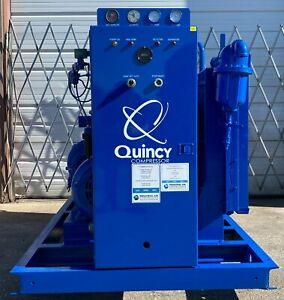 50hp Quincy screw compressor , unit 1432