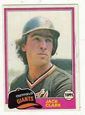 1981 TOPPS BASEBALL #30 JACK CLARK SF GIANTS - NM/MT