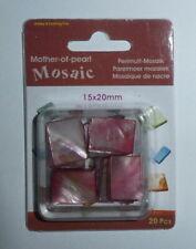 Mosaïque de Nacre 15x20 mm Rouge clair - Blister 20 pièces / Loisirs créatifs