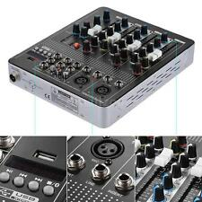 Black Bluetooth 4-Channel Mic Audio Mixer Console 3-band EQ 48V Phantom New A6J1