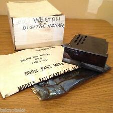 WESTON 2432 BCD 115/230VAC DIGITAL PANEL METER