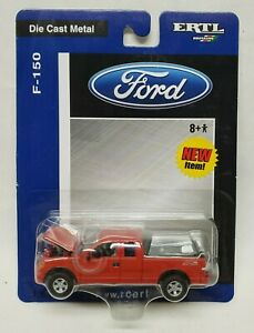 Ford F-150 Pickup Truck Red By Ertl 1/64 Scale