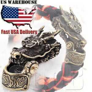 CooB Paracord Buckle Shackle Clasp Lock Bead DRAGON for Paracord Bracelet Making