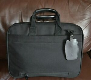 BRIGGS & RILEY TRAVELWARE~ CLASSIC DURABLE BLACK WORK/LAPTOP/ORGANIZER BAG