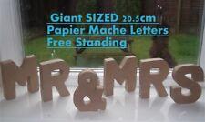 MR & MRS - Large freestanding 20.5cm papier mache cardboard words letters